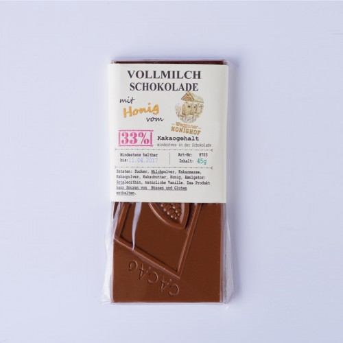 Vollmilchschokolade mit Wegguner Honig