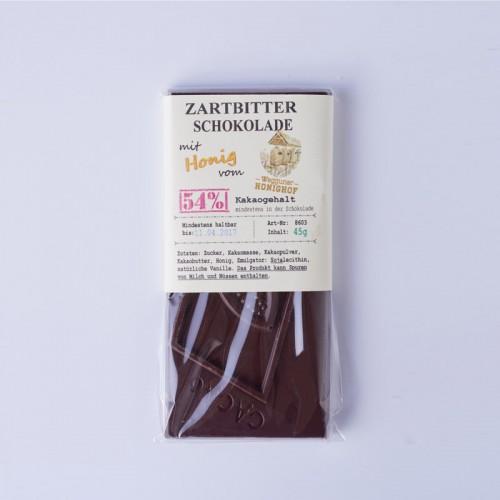 Zartbitterschokolade mit Wegguner Honig